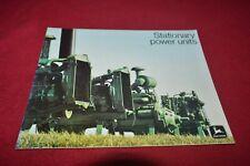 John Deere Stationary Power Units For 1973 Dealer's Brochure YABE18