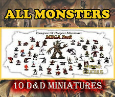 10 MONSTER Miniatures PACK LOT - Dungeons & Dragons / Pathfinder, D&D Figures