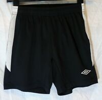 Boys Umbro Black White Logo Mesh Lined Swimming Swim Shorts Age 11-12 Years