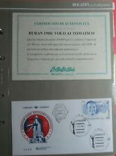Russia Buran Space FDC Shuttle 1988 with Autograph Bolaffi Cert R5F64