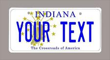 "Indiana custom novelty bicycle mini license plate- name or text 4""x9"""