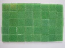 """Loose 3/4"""" (2 cms) square Glass Mosaic Tiles - 40 pieces - """"Apple Green"""""""