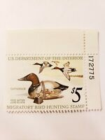 US Department of Interior Scott RW42 Canvasback $5 1975, MNH Plate Single #1...