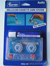 Eurac Cinta Audio Cassette Limpieza Cabezas No Abrasivo con Liquido - Nuevo