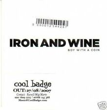 (117Y) Iron & Wine, Boy With A Coin - DJ CD