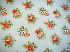 Mini Flowers & White Dots Fabric Bloomcraft Fabric BL