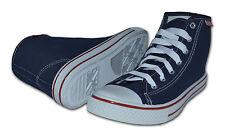Hombre Altas Con Cordones Botas De Lona,En Azul Marino,Talla RU 11/US 12 45 EUR,