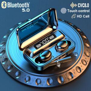 TWS 8D Kopfhörer Bluetooth 5.0 Touch Control In-Ear Ohrhörer Wireless Headset DE