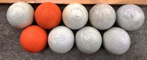Lot of 9 Used Cham pro Champro Official Lacrosse Ball Lax Balls NOCSAE Approved