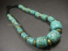 N4454 TIBET Ethnic FASHION tribal metal GLASS beads bone Gypsy NECKLACE Jewelry
