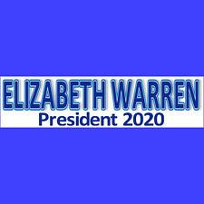 ELIZABETH WARREN 2020  Bumper Sticker  BUY 2 GET 1 FREE  Free S&H