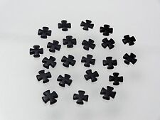 Unique 10x10mm Loose Czech Cross Shape Black Onyx WITHOUT HOLE