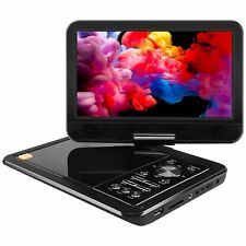 Portable Mini Car DVD Player for Kids Travel Remote Mobile 10.5 HD SD Card CD