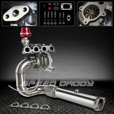 T04E 5PC TURBO KIT+CAST MANIFOLD+DOWNPIPE 88-00 D15 D16 HONDA CIVIC CRX EE EJ EK