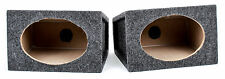 "NEW Q POWER AT6X9 UNIVERSAL PAIR OF SINGLE 6"" X 9"" UNLOADED MDF SPEAKER BOXES"