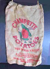 100 Lb Potato Gunny Sack Champette Schulz & Sons Crystal Nd Free Sh