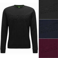 Hugo Boss Green Men's Salbo Slim Fit Crew Neck Sweatshirt