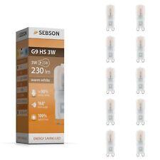LED Lampen G9 - 10x LED G9 warmweiß - G9 3W LED Lampe - SEBSON Leuchtmittel G9