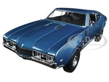 1968 OLDSMOBILE 442 BLUE 1:24 DIECAST CAR MODEL BY WELLY 24024