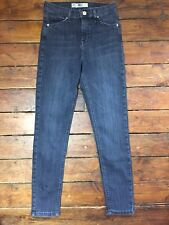 Topshop Moto Skinny Jeans Jamie  Blue Size 8 W26 To Fit L30      B/S