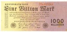 Germany 1 Billion Mark 1000 Milliarden 10th Issue November 1 1923 EF+ SCARCE
