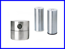 NEW 3pcs Stylish Modern Stainless Steel Set - Timer, Salt & Pepper Shaker