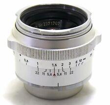Zeiss Contarex 50mm f/2 Planar lente, argento cromato EXC +