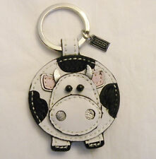 NEW Coach 92775 Learher Cow Key Ring Fob Key Chain Multicolor