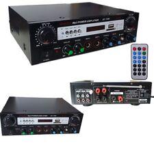 amplificatore audio stereo 2 canali bluetooth karaoke mp3 radio fm hi-fi usb 80w