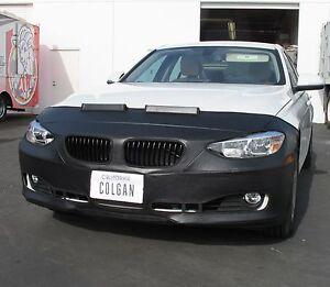 Colgan Front End Mask Bra 2pc. Fits BMW 320i & 328i 2012-2015 Sedan W/License