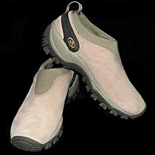 Merrell Satellite Mocs Pale Pink Suede Slip On Loafers Moccasins Walking Shoe 8M