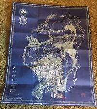 XBOX 360 PS3 ✔ GTA V 5 SPECIAL EDITION BLUEPRINT UV LIGHT SECRET LOS SANTOS MAP