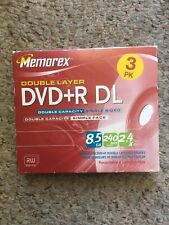 Memorex Double Layer DVD+R DL - 3 Pack