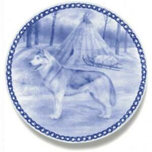 Siberian Husky - Dog Plate made in Denmark from the finest European Porcelain