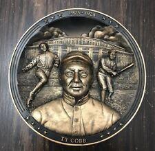 "Bradford Exchange Ty Cobb ""The Georgia Peach"" 3D Collector Plate w/ Coa & Box"