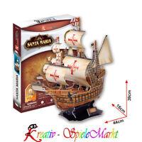Cubic Fun - 3D Puzzle Santa Maria Schiff Christoph Kolumbus