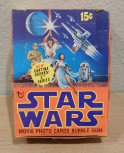 TOPPS Vintage 1977 STAR WARS 5th SERIES  EMPTY GUM TRADING CARDS WAX BOX