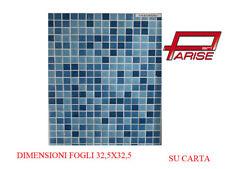 Mosaico pasta di vetro su carta rivestimento ceramica miscelato 1,05mq 10 pz.
