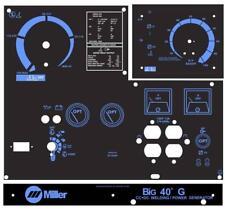 Miller Welder Black & White Laser Cut Aluminum BIG 40 G, 3-Pcs Control Plate