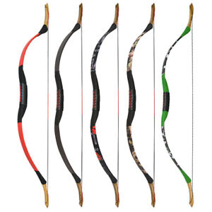 25-55lbs Traditional Recurve Bow Longbow Mongolian Horsebow Archery Hunting