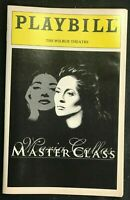 BOSTON PLAYBILL - Nov 1996 - MARIA CALLAS MASTER CLASS - Faye Dunaway   b3