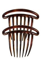 Caravan French Double Rim French Twist Comb Tortoise Shell Pair, .65 Ounce