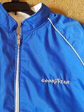 reversible GOODYEAR bomber baseball jacket Blue Nylon & Grey Corduroy -Vintage??