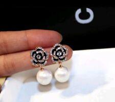 -we❤- Designer Flower Luxury High street fashion Quality Earrings cc PEARL