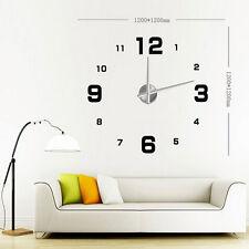 Neu 3D Design Uhr Wanduhr Wand-Deko Wandtattoo Deko Stylisch Art Wanduhren XXL