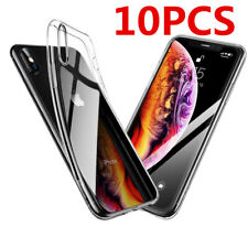 10X Lot Silicon Clear Gel Soft TPU Case for Apple iPhone 11 XS MAX 7 8 plus 6 XR