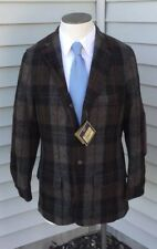 NWT-Bills Khakis BRJ-CHBJ BRANDYWINE JACKET Blazer WOOL BLEND Leather Cut SZ M/L