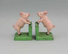 NEW PIG FIGURE BOOKENDS CAST  IRON  FARM DECOR  6 X 3 X 3