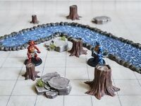 9 Tree Stumps 3 Sizes 40k Legion Terrain Scenery Tabletop Miniatures