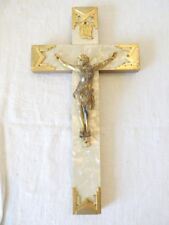 Ancien Crucifix / Christ ART DECO XXeme NACRE et Metal doré